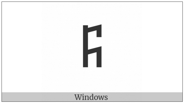 Old Turkic Letter Orkhon Op on various operating systems