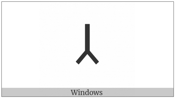 Old Turkic Letter Orkhon Ec on various operating systems