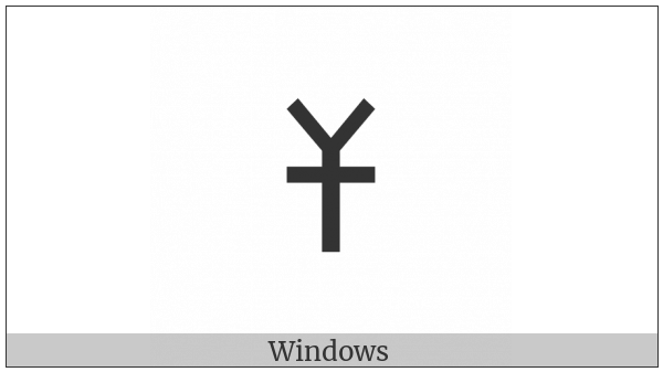 Old Turkic Letter Orkhon Esh on various operating systems