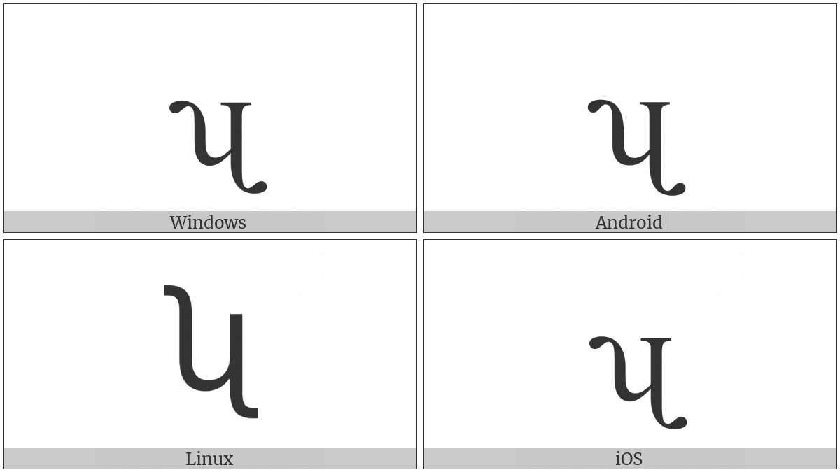 Latin Small Letter Turned H With Fishhook And Tail on various operating systems