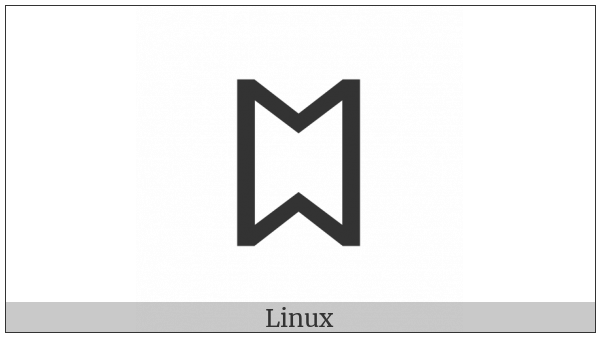 Old Hungarian Capital Letter U on various operating systems