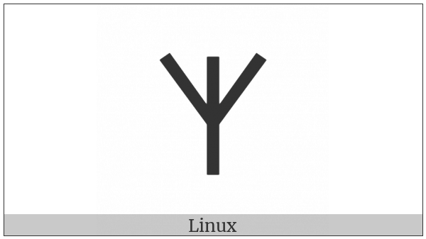 Old Hungarian Capital Letter Ezs on various operating systems