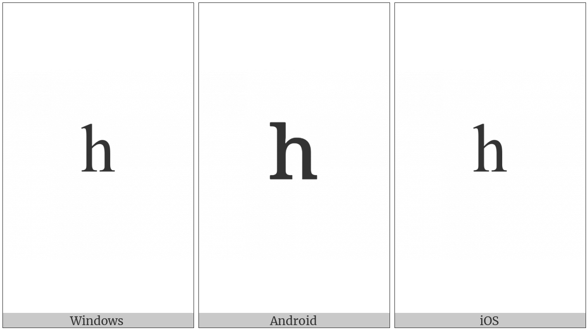 Modifier Letter Small H on various operating systems