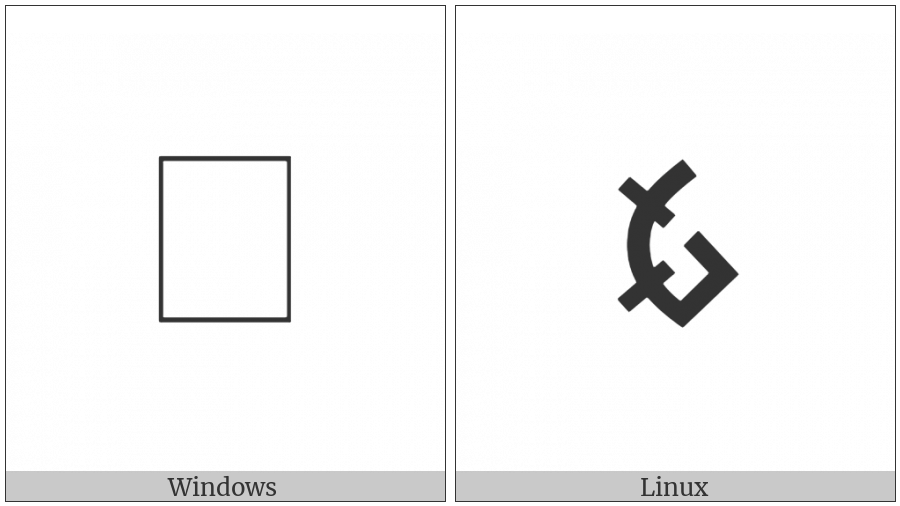 Old Hungarian Small Letter Oee on various operating systems