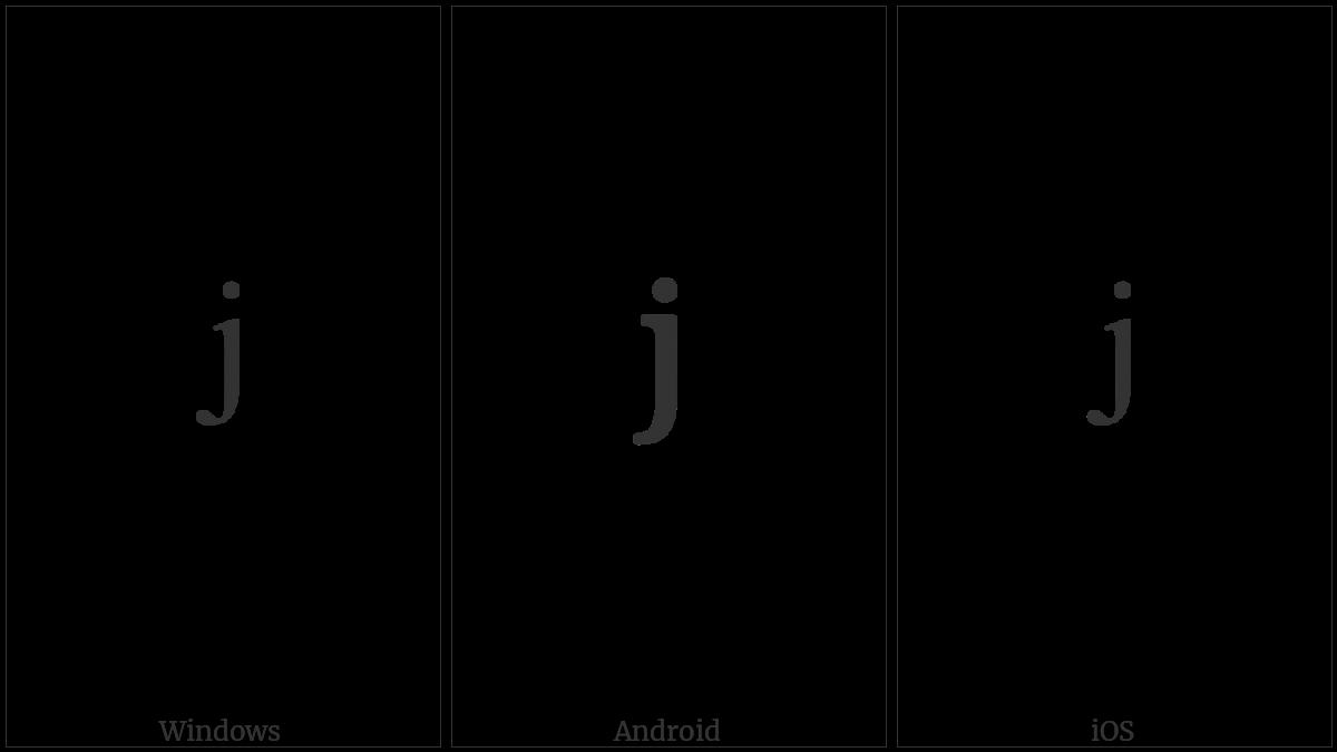 MODIFIER LETTER SMALL J utf-8 character