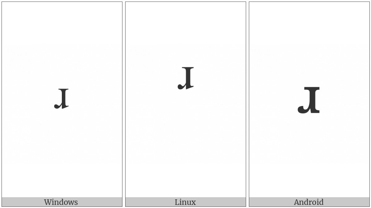 Modifier Letter Small Turned R on various operating systems