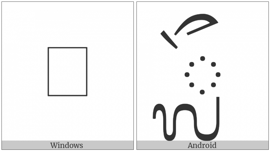 Balinese Vowel Sign La Lenga on various operating systems