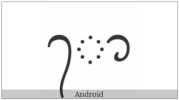 Balinese Vowel Sign Taling Tedung on various operating systems