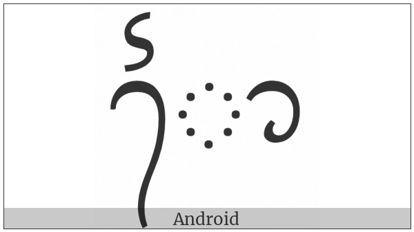 Balinese Vowel Sign Taling Repa Tedung on various operating systems