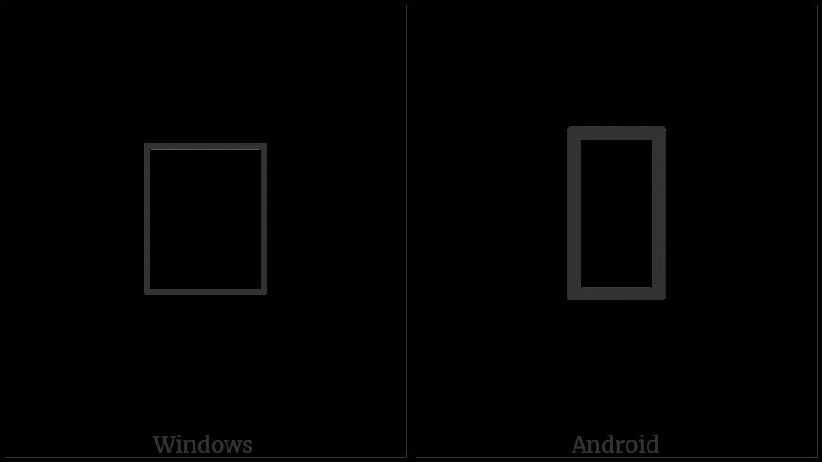 Kaithi Letter Gha on various operating systems