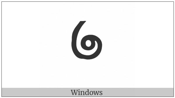 Chakma Digit Three on various operating systems