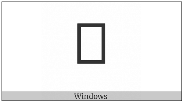 Chakma Digit Five on various operating systems