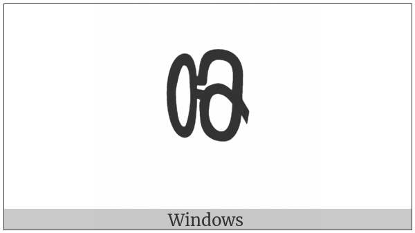 Chakma Digit Nine on various operating systems