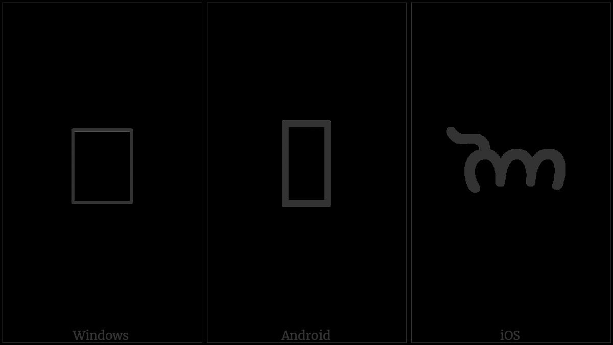 Mahajani Letter O on various operating systems