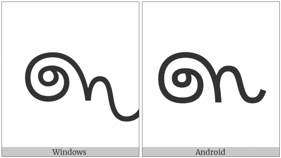 Sinhala Archaic Digit Three on various operating systems