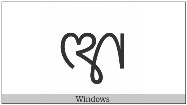 Sinhala Archaic Number Sixty on various operating systems