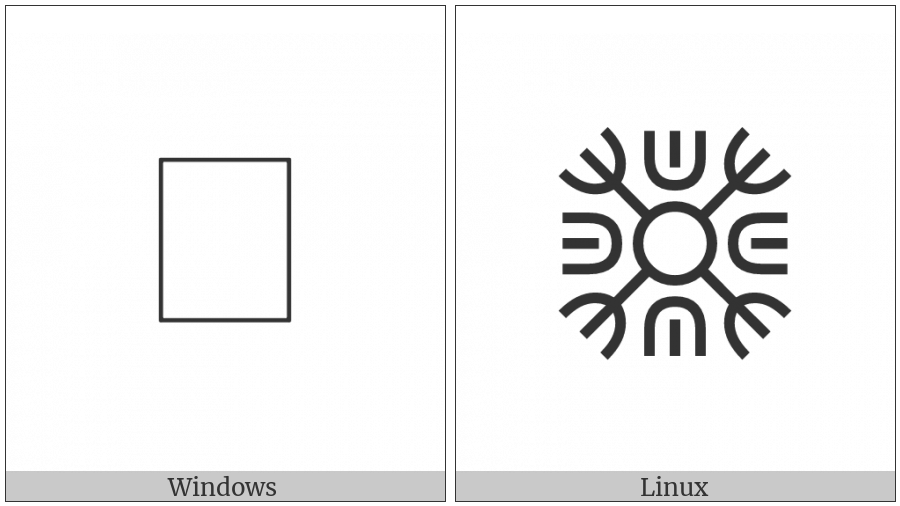 Siddham Section Mark With Trident And U-Shaped Ornaments on various operating systems