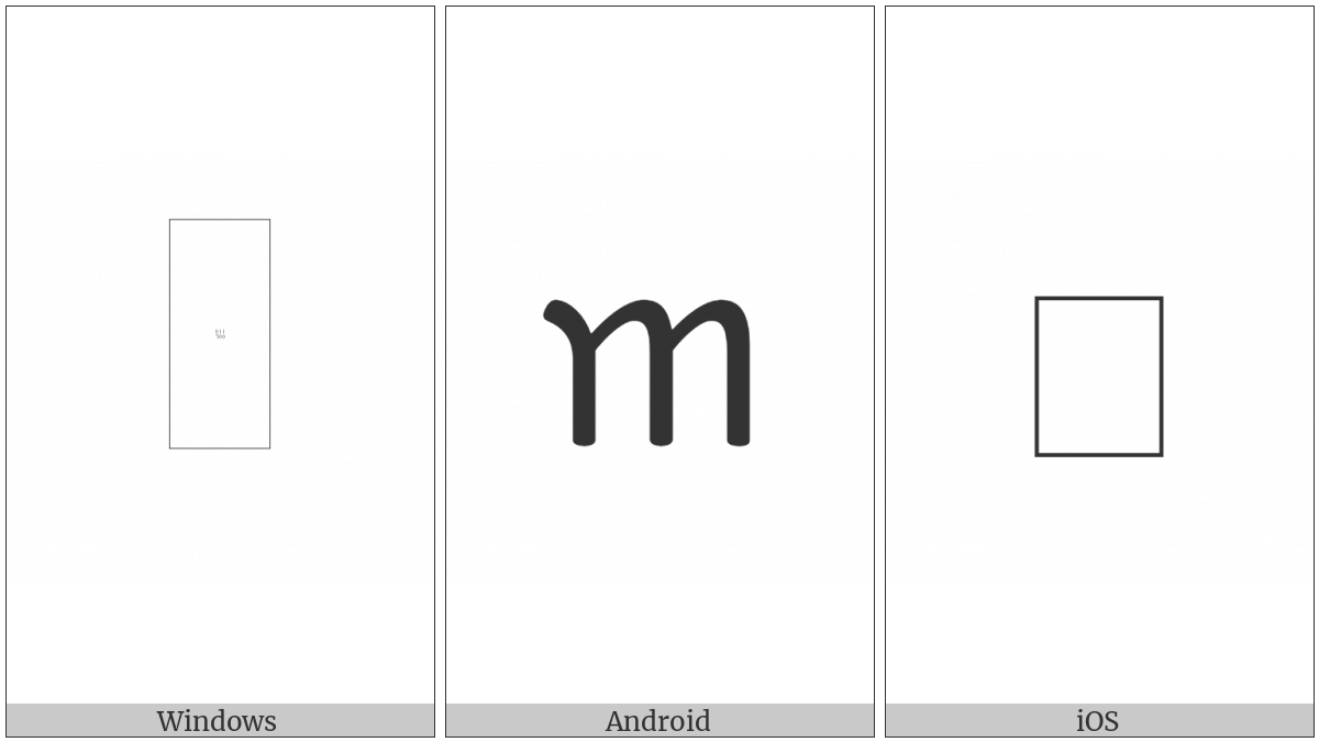Ahom Letter Ka on various operating systems