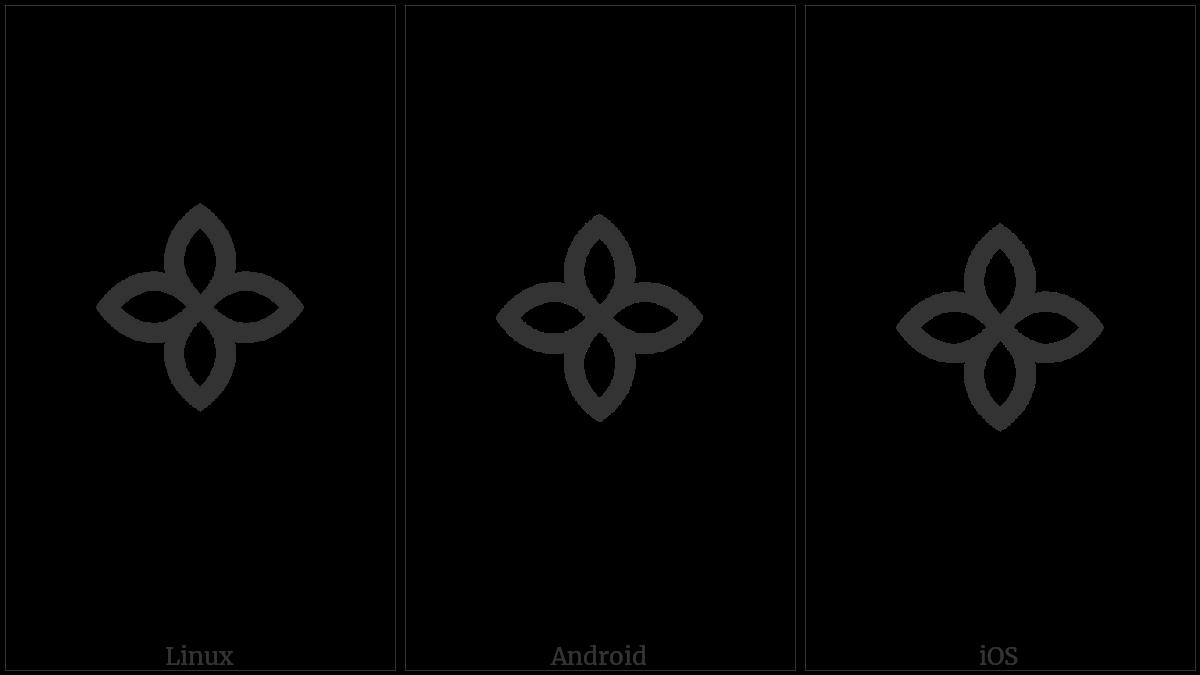 Batak Symbol Bindu Pinarboras on various operating systems