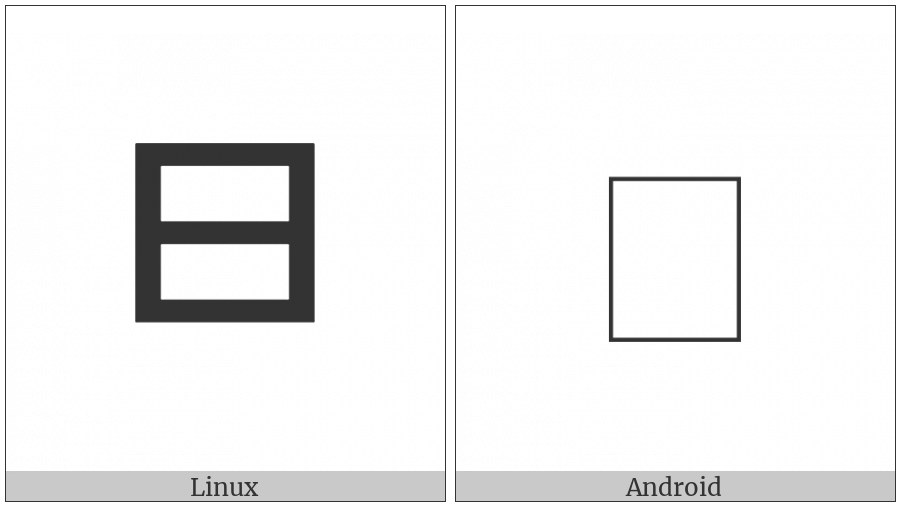 Zanabazar Square Letter Tha on various operating systems
