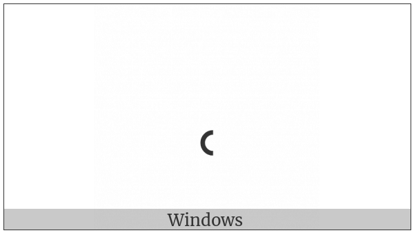 Modifier Letter Centred Left Half Ring on various operating systems