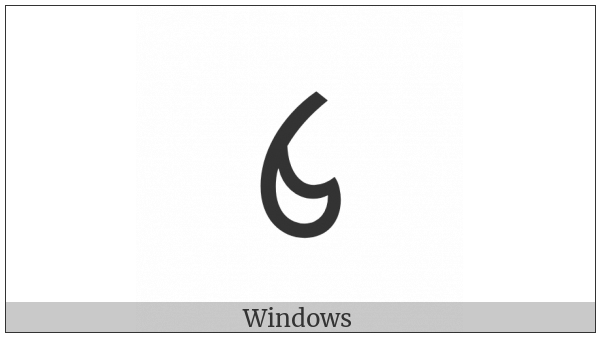 Ol Chiki Digit Four on various operating systems