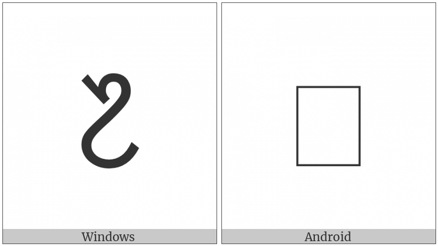 Ol Chiki Digit Seven on various operating systems