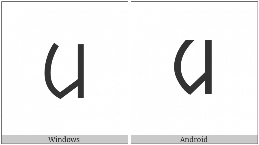 Ol Chiki Letter Aam on various operating systems