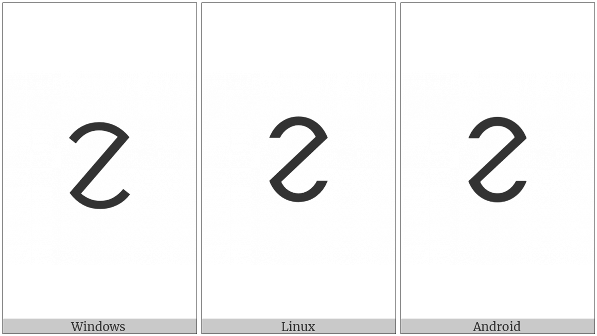 Ol Chiki Letter Le on various operating systems