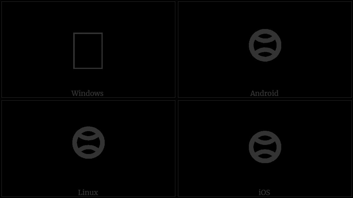 Sundanese Punctuation Bindu Purnama on various operating systems