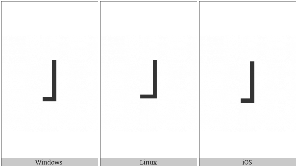 MODIFIER LETTER EXTRA-LOW TONE BAR utf-8 character