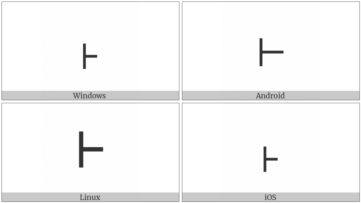 Modifier Letter Yang Departing Tone Mark on various operating systems