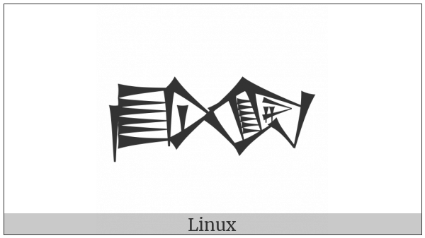 Cuneiform Sign Bahar2 Times Ni on various operating systems