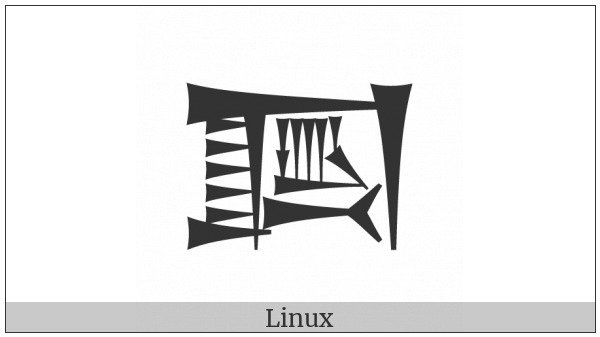 Cuneiform Sign Da Times Tak4 on various operating systems