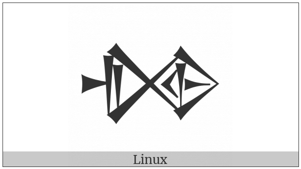 Cuneiform Sign Dim Times Igi on various operating systems
