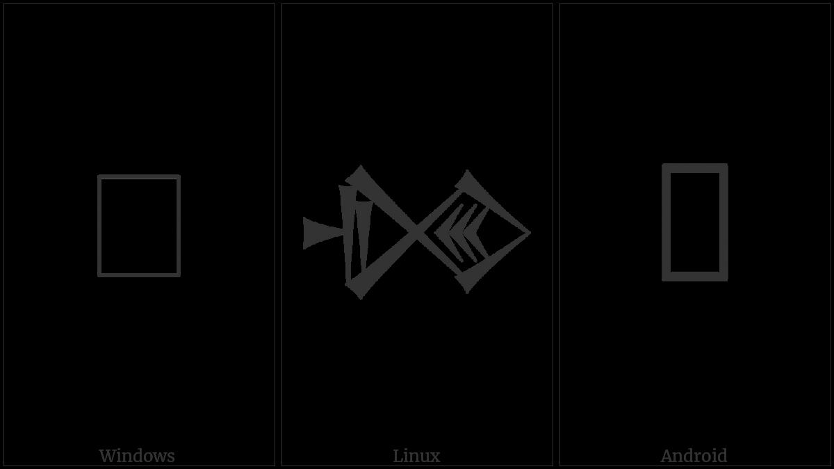 Cuneiform Sign Dim Times U U U on various operating systems