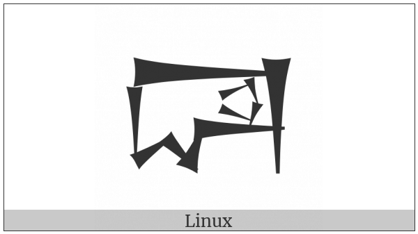 Cuneiform Sign Dim2 Times Ud on various operating systems