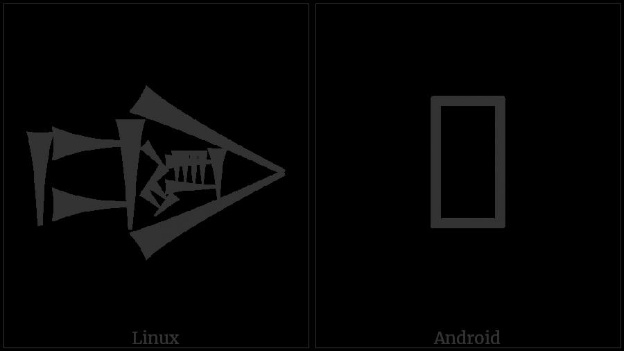 Cuneiform Sign Dug Times Dun on various operating systems