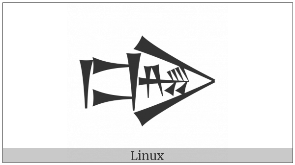 Cuneiform Sign Dug Times Gi on various operating systems