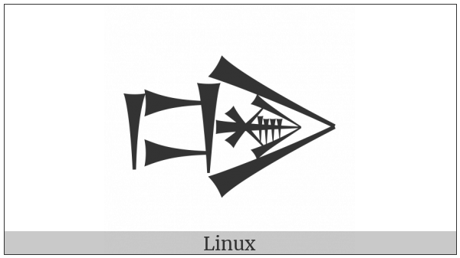 Cuneiform Sign Dug Times Gir2 Gunu on various operating systems