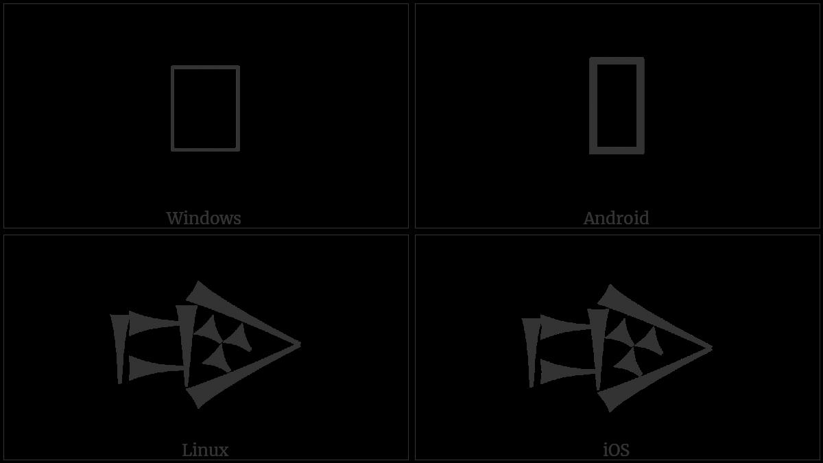 Cuneiform Sign Dug Times Kur on various operating systems