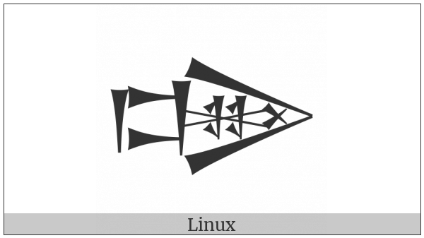 Cuneiform Sign Dug Times Lak-020 on various operating systems