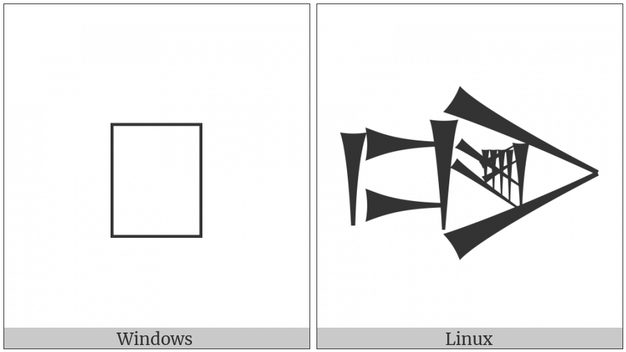 Cuneiform Sign Dug Times Lam on various operating systems
