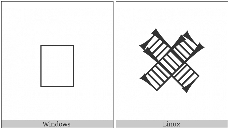 Cuneiform Sign Esh2 Crossing Esh2 on various operating systems