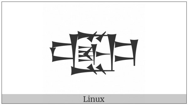 Cuneiform Sign Ezen Sheshig Times Igi Gunu on various operating systems