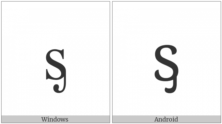 Latin Small Letter S With Palatal Hook on various operating systems