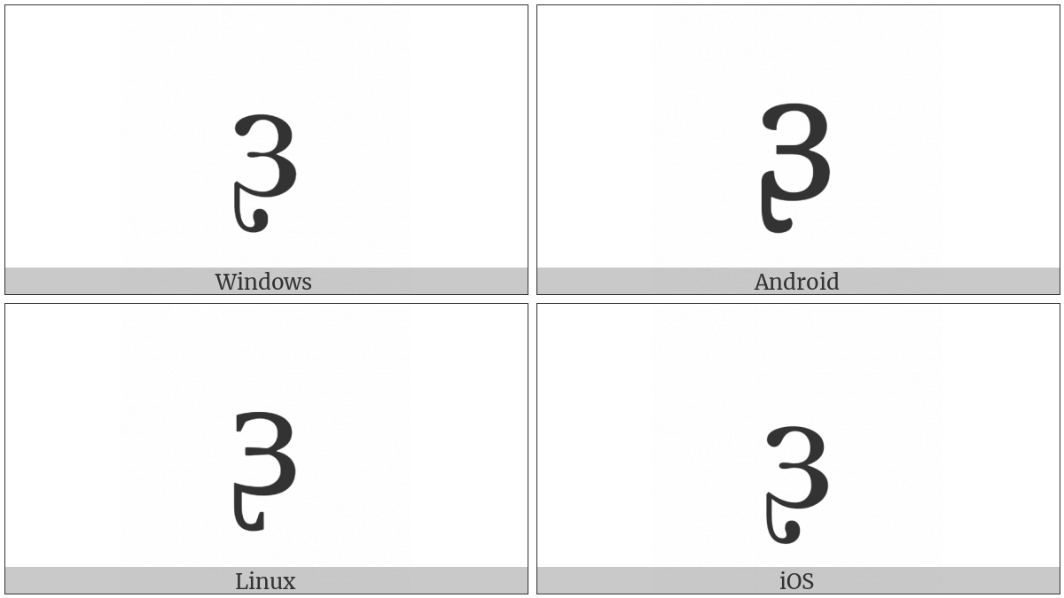 Latin Small Letter Reversed Open E With Retroflex Hook on various operating systems