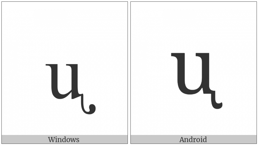 Latin Small Letter U With Retroflex Hook on various operating systems