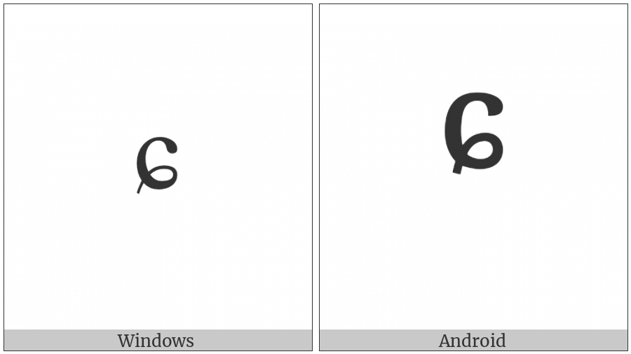 Modifier Letter Small C With Curl on various operating systems