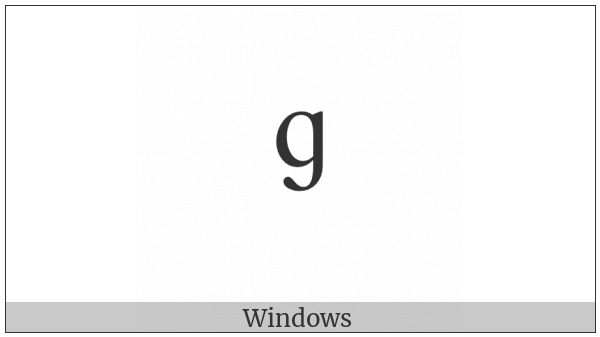 Modifier Letter Small Script G on various operating systems